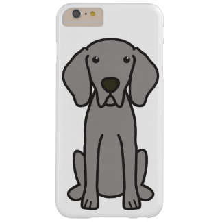 Dibujo animado del perro de Weimaraner Funda De iPhone 6 Plus Barely There