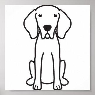 Dibujo animado del perro de Weimaraner Posters