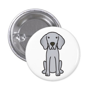 Dibujo animado del perro de Weimaraner Pin