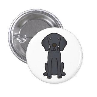 Dibujo animado del perro de Weimaraner Pins