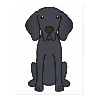 Dibujo animado del perro de Weimaraner Tarjetas Postales