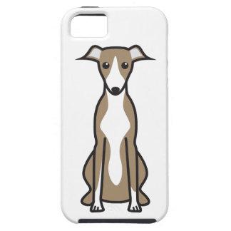 Dibujo animado del perro de Whippet iPhone 5 Cárcasa