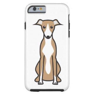 Dibujo animado del perro de Whippet Funda De iPhone 6 Tough