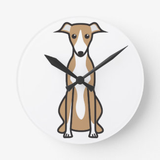 Dibujo animado del perro de Whippet Relojes