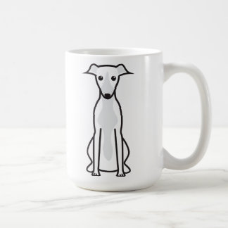 Dibujo animado del perro de Whippet Taza