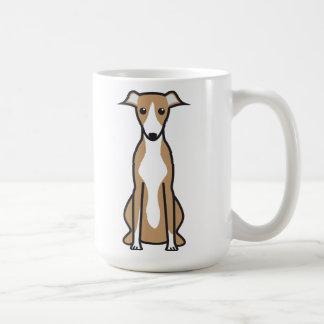 Dibujo animado del perro de Whippet Taza Clásica