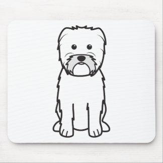 Dibujo animado del perro del Affenpinscher Alfombrillas De Raton