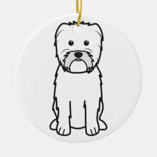Dibujo animado del perro del Affenpinscher Ornamentos De Reyes Magos