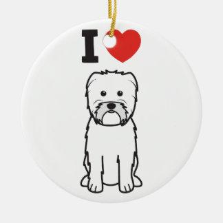 Dibujo animado del perro del Affenpinscher Adorno Redondo De Cerámica