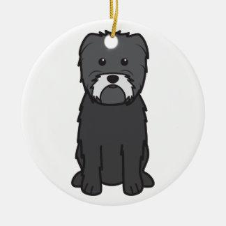 Dibujo animado del perro del Affenpinscher Adorno De Navidad
