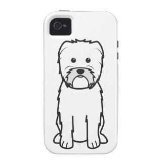 Dibujo animado del perro del Affenpinscher iPhone 4 Carcasa