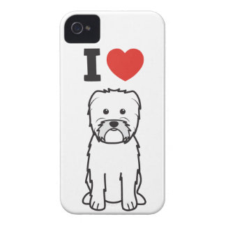 Dibujo animado del perro del Affenpinscher Case-Mate iPhone 4 Cárcasas