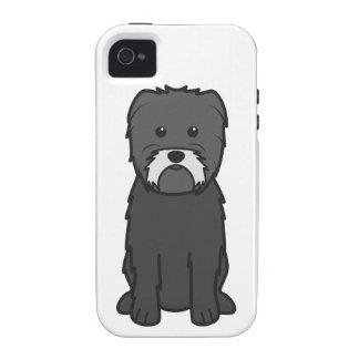 Dibujo animado del perro del Affenpinscher Case-Mate iPhone 4 Carcasas