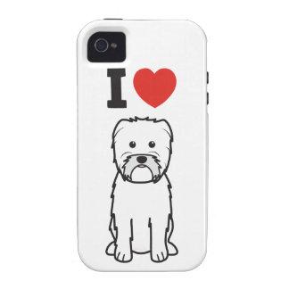 Dibujo animado del perro del Affenpinscher iPhone 4 Fundas