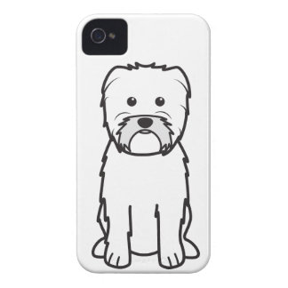 Dibujo animado del perro del Affenpinscher iPhone 4 Protectores