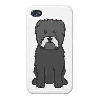 Dibujo animado del perro del Affenpinscher iPhone 4/4S Fundas