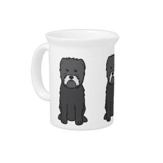 Dibujo animado del perro del Affenpinscher Jarra Para Bebida