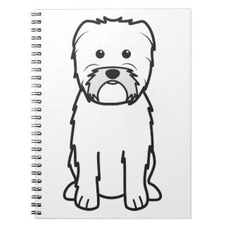 Dibujo animado del perro del Affenpinscher Libro De Apuntes