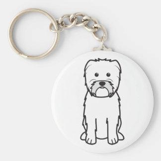 Dibujo animado del perro del Affenpinscher Llavero Redondo Tipo Pin
