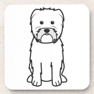 Dibujo animado del perro del Affenpinscher Posavaso