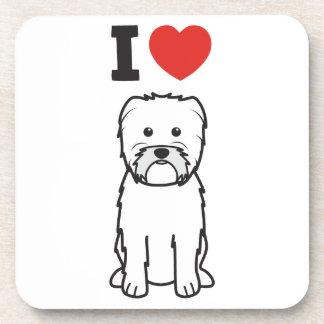 Dibujo animado del perro del Affenpinscher Posavasos De Bebidas