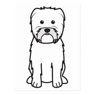 Dibujo animado del perro del Affenpinscher Postales
