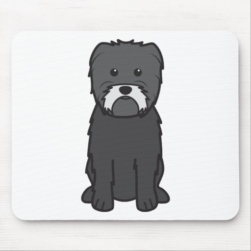 Dibujo animado del perro del Affenpinscher Tapetes De Ratones