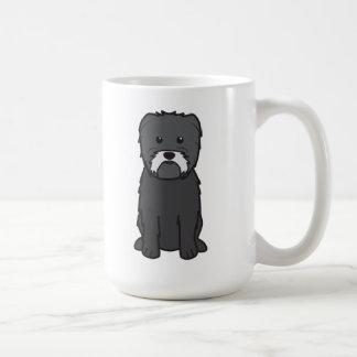 Dibujo animado del perro del Affenpinscher Taza