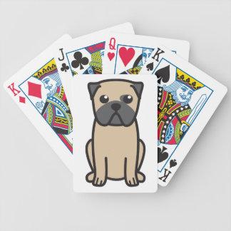 Dibujo animado del perro del barro amasado baraja cartas de poker