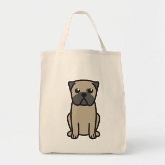 Dibujo animado del perro del barro amasado bolsa tela para la compra