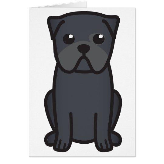 Dibujo animado del perro del barro amasado tarjeta pequeña