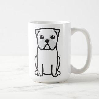 Dibujo animado del perro del barro amasado tazas de café