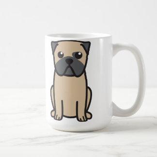 Dibujo animado del perro del barro amasado taza