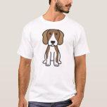 Dibujo animado del perro del beagle playera