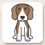 Dibujo animado del perro del beagle posavasos de bebida
