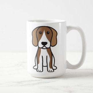 Dibujo animado del perro del beagle taza de café