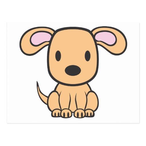 Dibujo animado del perro del bebé tarjeta postal   Zazzle