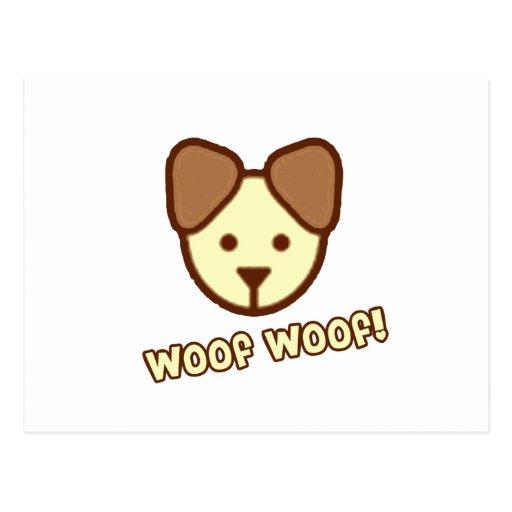 Dibujo animado del perro del bebé tarjeta postal