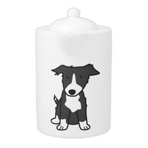 Dibujo animado del perro del border collie
