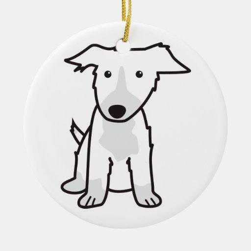 Dibujo animado del perro del border collie adorno de reyes
