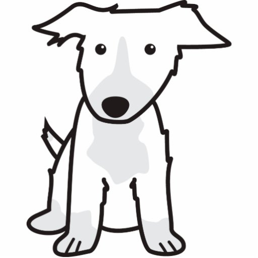 Dibujo animado del perro del border collie fotoescultura vertical ...