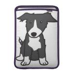 Dibujo animado del perro del border collie fundas MacBook