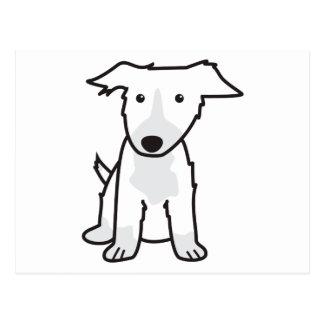 Dibujo animado del perro del border collie tarjeta postal