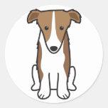 Dibujo animado del perro del Borzoi Etiquetas