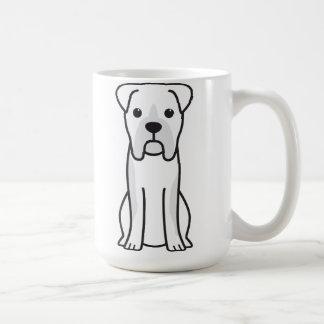 Dibujo animado del perro del boxeador de Bull Taza Básica Blanca