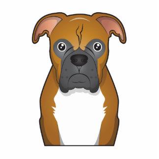 Dibujo animado del perro del boxeador fotoescultura vertical