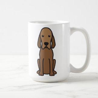 Dibujo animado del perro del Coonhound de Redbone Taza Clásica