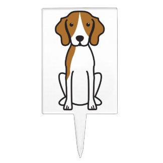 Dibujo animado del perro del Coonhound del caminan Decoración De Tarta