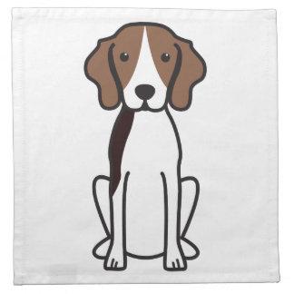 Dibujo animado del perro del Coonhound del caminan Servilleta
