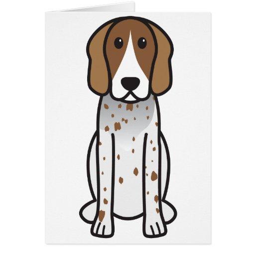 Dibujo animado del perro del Coonhound del inglés  Tarjeta De Felicitación